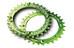 Race Face Single Narrow Wide Zębatka rowerowa 4-Bolt 104mm zielony